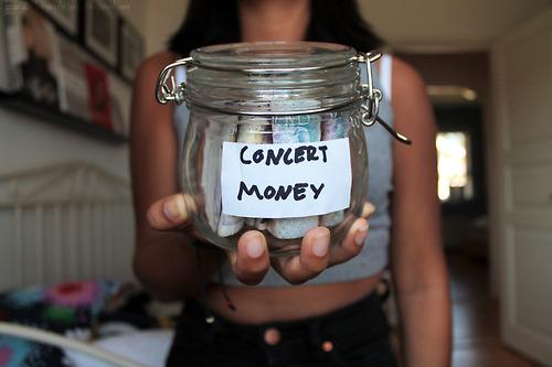 concert money
