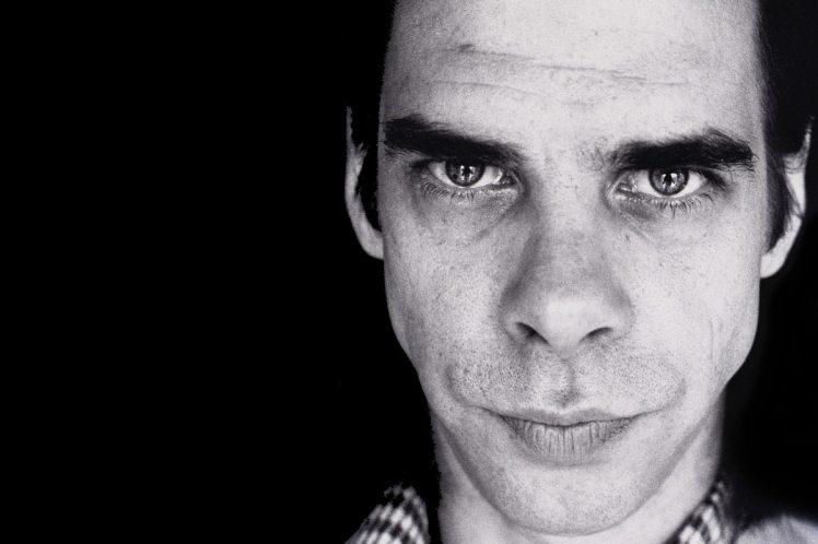 Foto de Nick Cave em fundo preto
